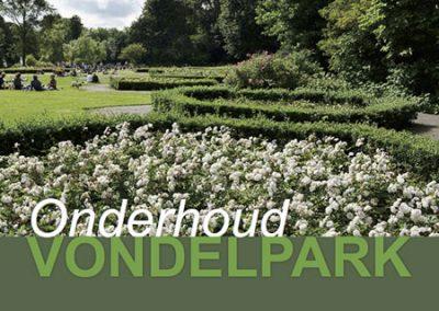 Maintenance gardening and landscaping Vondelpark and Sarphatipark